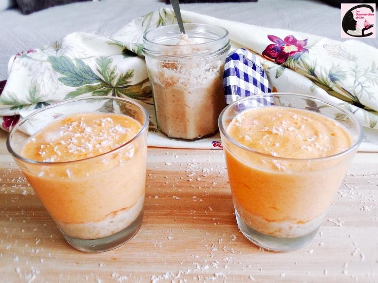 Mousse Abricot Sur Lit De Coco 1