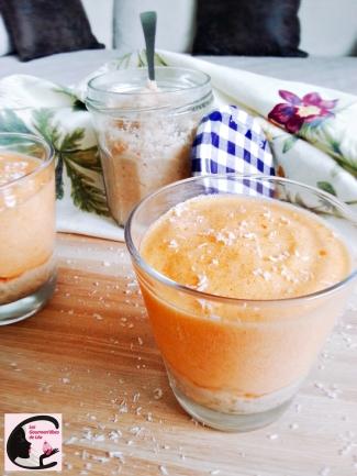 Mousse Abricot Sur Lit De Coco 3