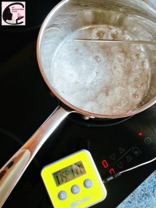 sucre, petit boulé, cuisson, thermomètre de cuisine, sonde