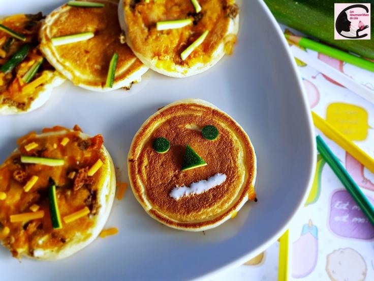 pancake, crêpe, crêpe salée, légumes, courgette, plat fun, enfant