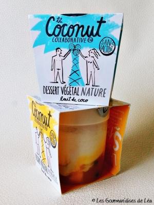 yaourt, dessert lacté, lait de coco, lait végétal, sans lactose, sans gluten, vegan