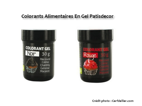 colorants, colorants alimentaires, colorants gels, colorant noir, colorant rouge, patidécor, patisdecor, rouge, noir