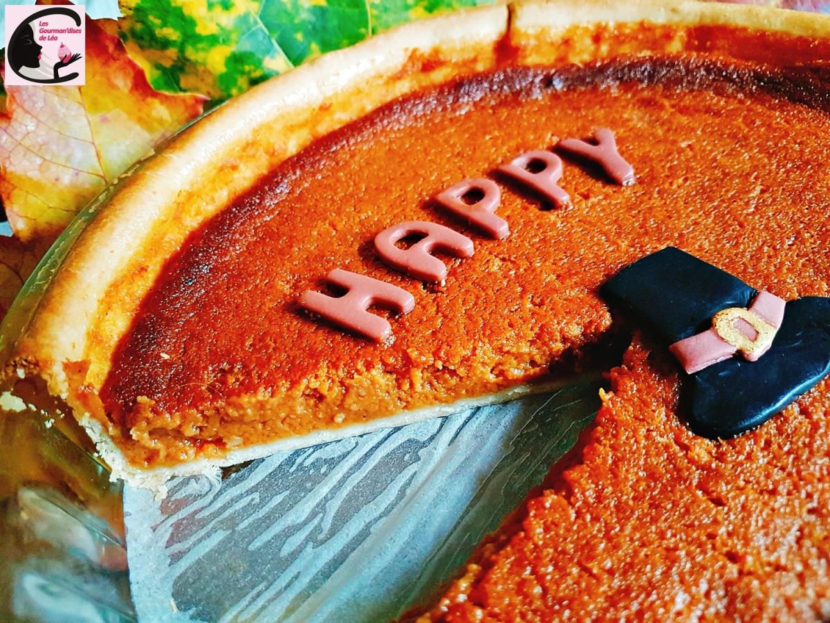 Thanksgiving, tarte, patate douce, cannelle, sucré, dessert, tradition américaine, USA, cuisine américaine, cuisine des USA, pâte à sucre, décor dessert