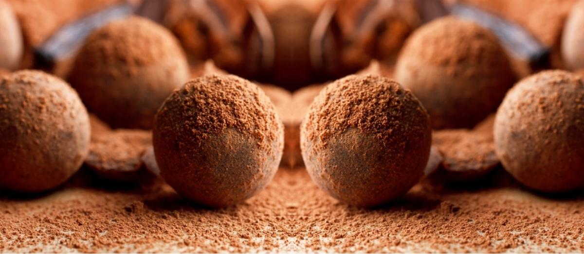 truffes, truffes chocolat, gourmandises sucrées, noël, tradition, chocolat, cacao, soja, noix de coco, cadeau gourmand