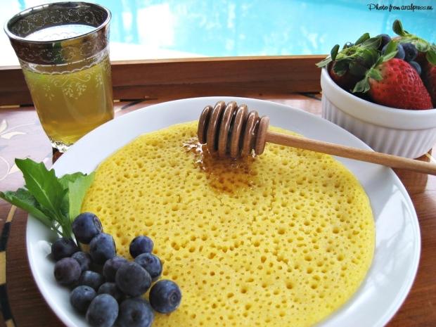 crêpe, chandeleur, galette, tradition, crêpes du monde, saveurs d'ailleurs, Maghreb, cuisine algérienne, baghrir, crêpe aux mille trous, miel