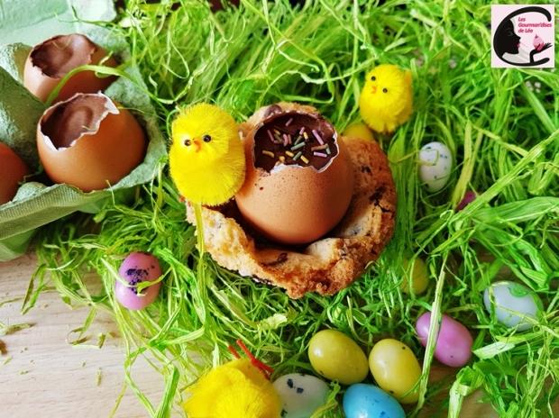 paques, chocolat, mousse, mousse chocolat, oeuf, oeuf coque, oeuf de paques, nid, cookie, pépites de chocolat, cupcake, poussin, dessert, dessert original, gourmandise, tradition